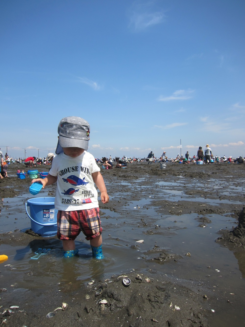 牛込海岸子供潮干狩り