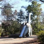 恐竜の滑り台がある公園(千葉県柏市の手賀の丘公園)に行ってきました