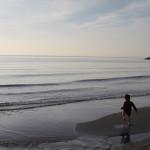 真冬の千葉県稲毛市は稲毛海浜公園