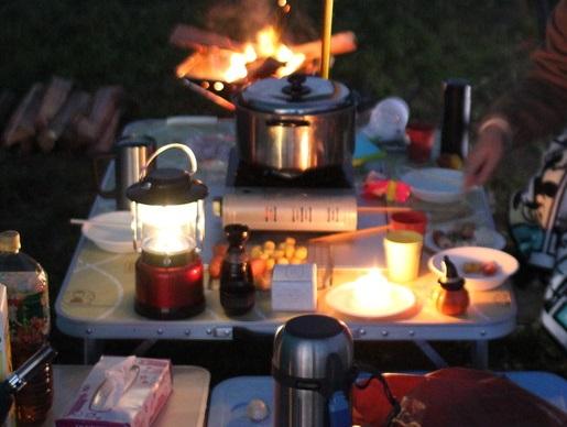 冬キャンプ成田ゆめ牧場で鍋キャンプ