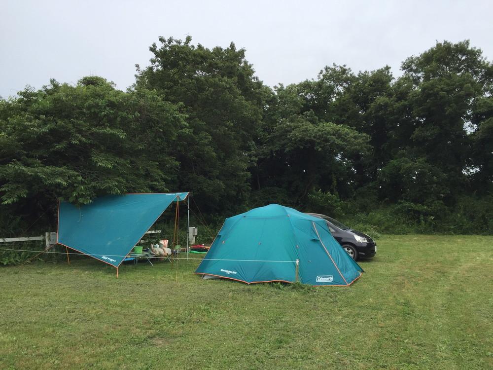 コールマンのウインズライトドームとヘキサタープセット