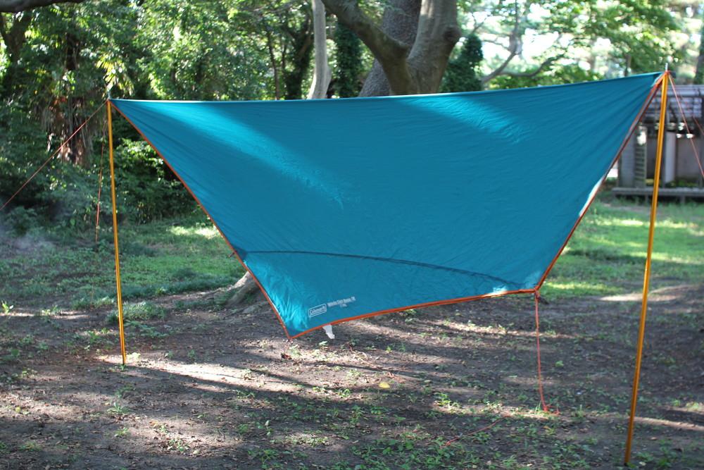 コールマンのテント・ウインズライトドームとヘキサタープセット (13)