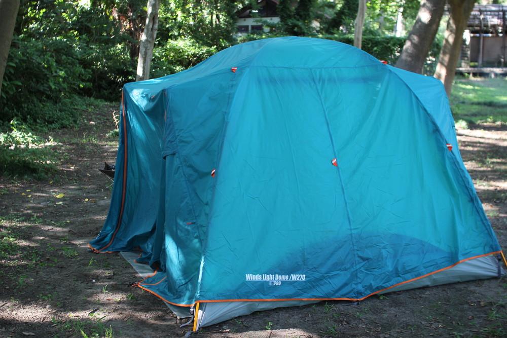 コールマンのテント・ウインズライトドームとヘキサタープセット (5)