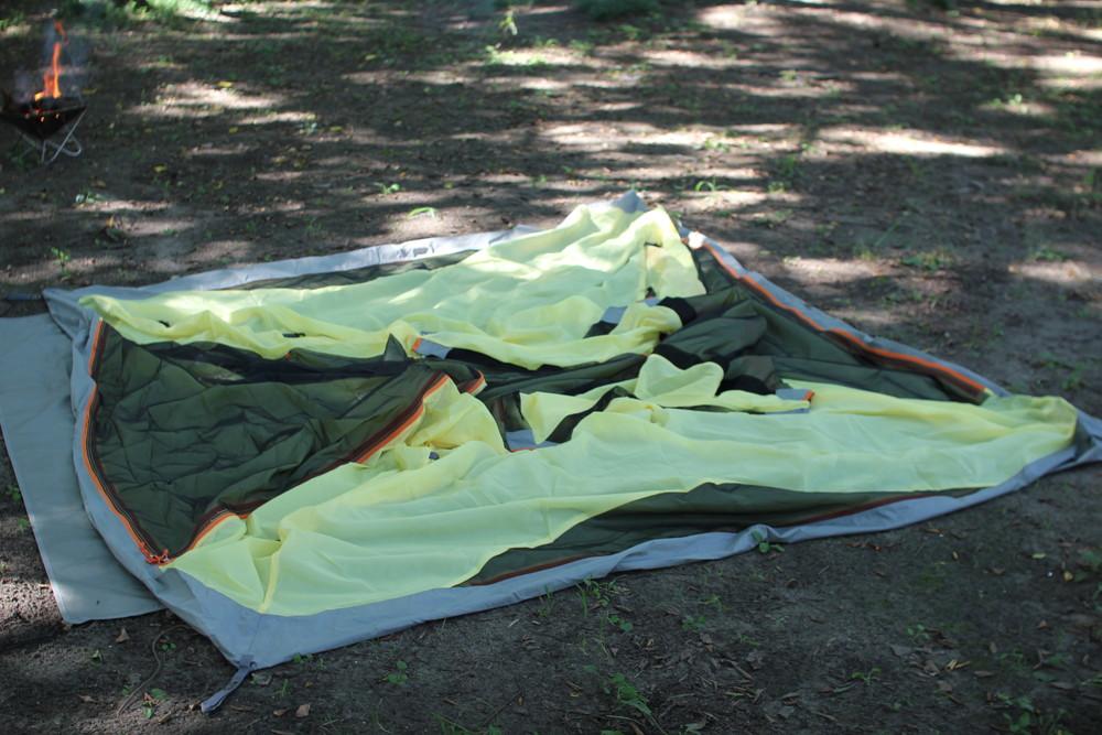 コールマンのテント・ウインズライトドームとヘキサタープセット (1)