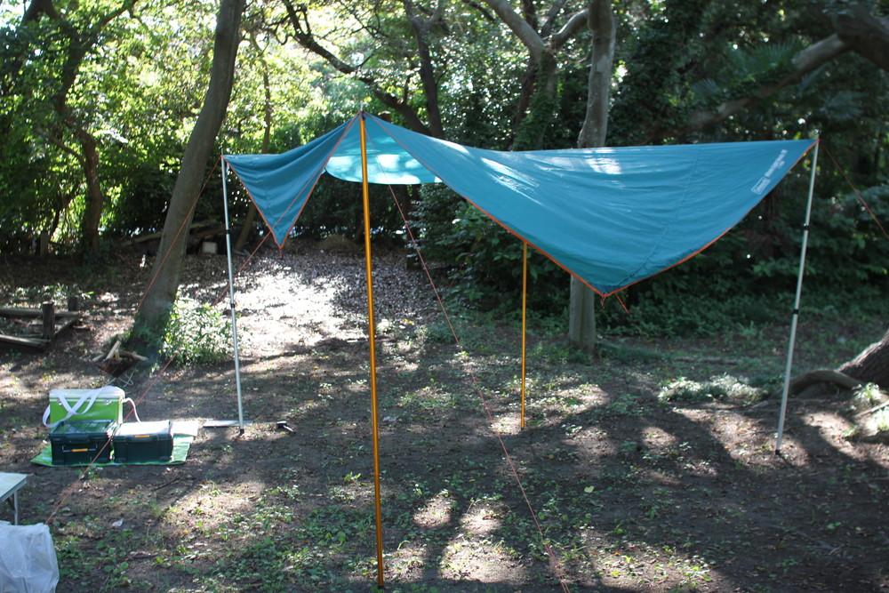 コールマンのテント・ウインズライトドームとヘキサタープセット (17)