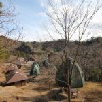 千葉県立清和県民の森にてキノコロッジでバーベキューと川遊び(3月