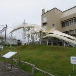 道の駅和田浦の鯨資料館とシロナガスクジラ
