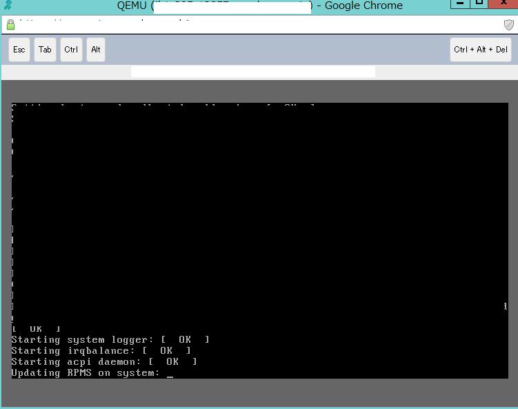 さくらVPS起動 Updating RPMS on system: _ のまま動かない