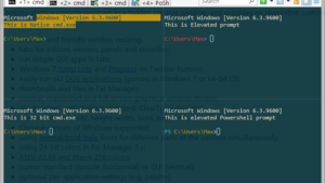 Windowsお気に入りコンソールのConEmuで画面分割設定例
